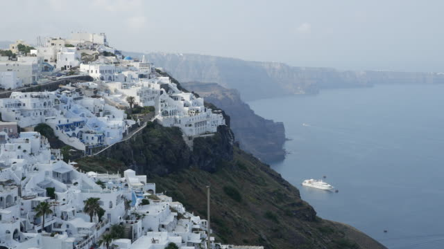 Greece Santorini Fira in morning