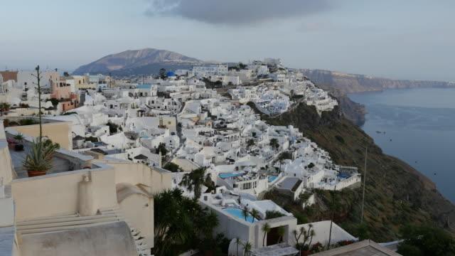 Greece Santorini Fira in shade