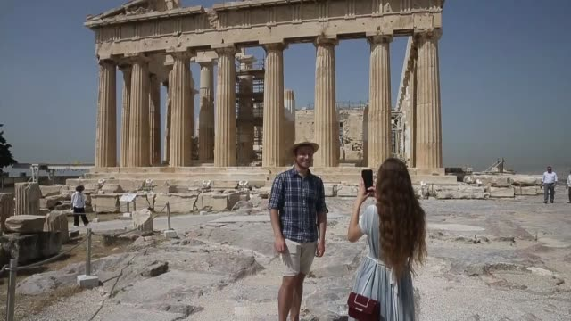 greece's all archaeological sites especially the acropolis reopened on may 18 as the country entered its third phase of returning to normality with... - acropolis athens stock videos & royalty-free footage
