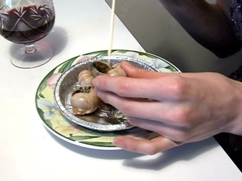 gourmand - snail stock videos & royalty-free footage
