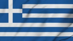 Greek animated country flag