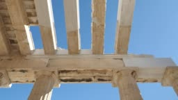 Greek Architecture structure of the Acropolis, Athens, Greece