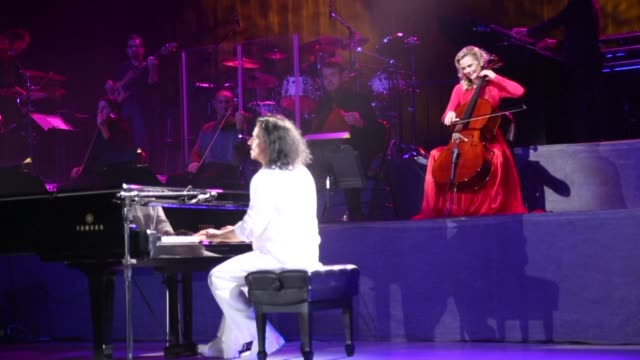 Greek composer Yanni gave a concert and a press conference Thursday in Jeddah in Saudi Arabia