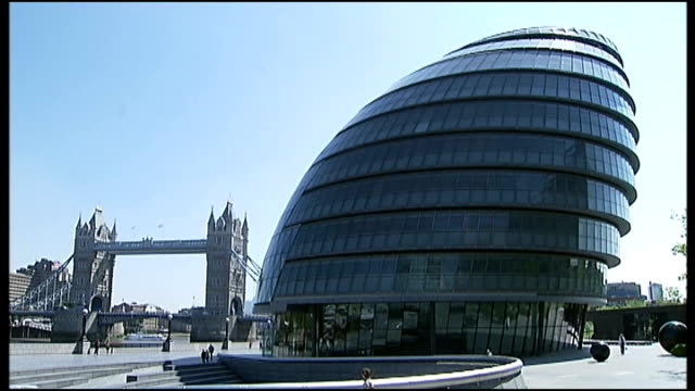 Greek debt crisis may lead to Eurozone collapse ENGLAND London EXT General views of City Hall building