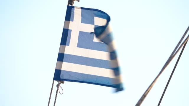 ギリシャ国旗風フラップ - ギリシャ国旗点の映像素材/bロール