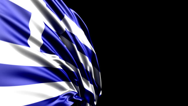 greek flag hd 1080, pal, ntsc, alpha included, looping - greek flag stock videos & royalty-free footage