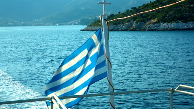 hd: greek flag in wind - greek flag stock videos & royalty-free footage