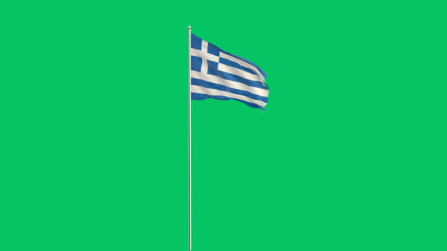 greek flag rising - greek flag stock videos & royalty-free footage