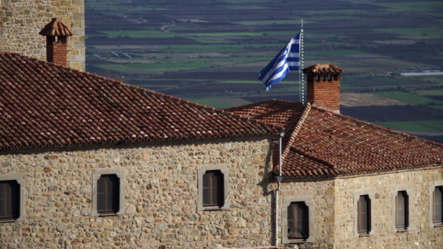 greek flag - ギリシャ国旗点の映像素材/bロール