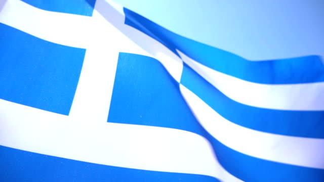 vídeos y material grabado en eventos de stock de bandera griega - bandera griega