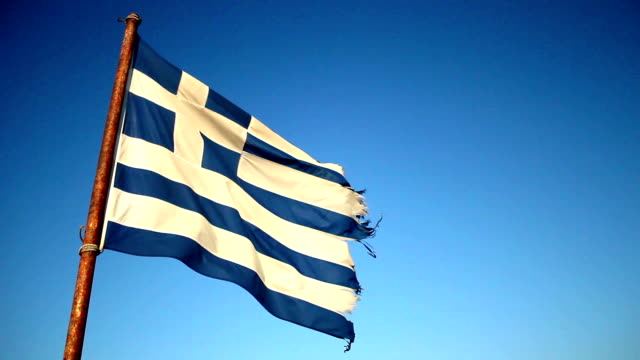 greek flag waving - greek flag stock videos & royalty-free footage