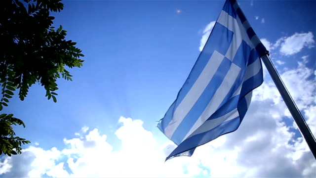 greek flag,b roll - greece stock videos & royalty-free footage