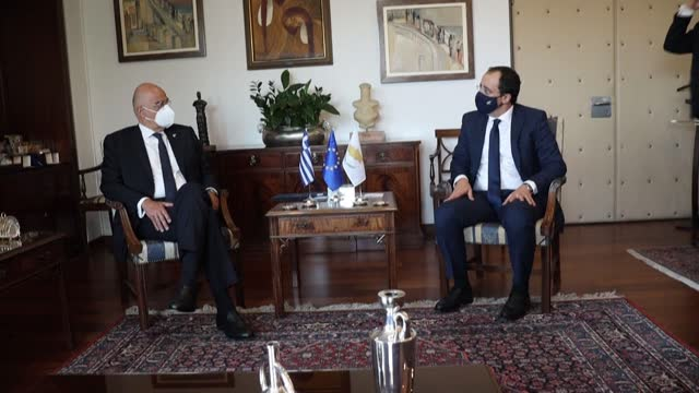 greek foreign minister nikos dendias condemns the comments turkish president recep tayyip erdogan he made during his visit to the self-proclaimed... - ghost town stock videos & royalty-free footage