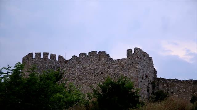 Greek fortress against blue sky