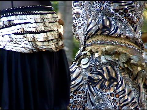 greek gypsy belly dancers shaking their hips - greek culture stock videos & royalty-free footage