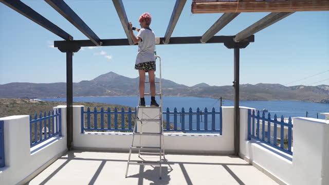 greek island of milos preparing to reopen to tourists after coronavirus pandemic - cyclades islands stock videos & royalty-free footage