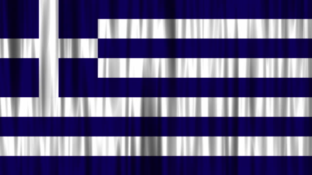 greek national flag (loopable) background - greek flag stock videos & royalty-free footage