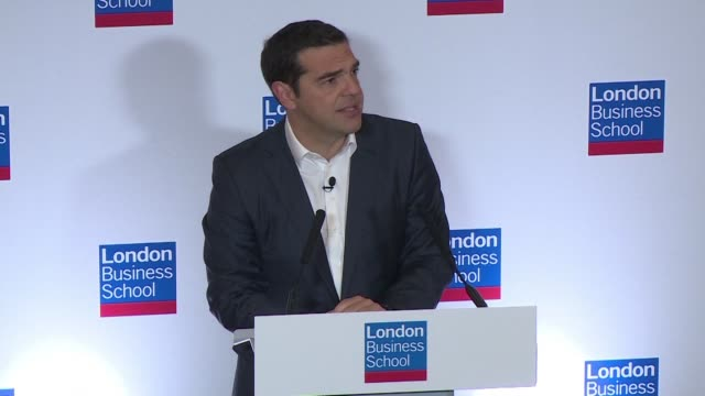 greek prime minister alexis tsipras uses a speech in london to both welcome last week's debt relief deal for his country and to warn that the eu... - populism stock videos and b-roll footage