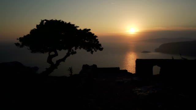 greek sunset - rhodes dodecanese islands stock videos & royalty-free footage