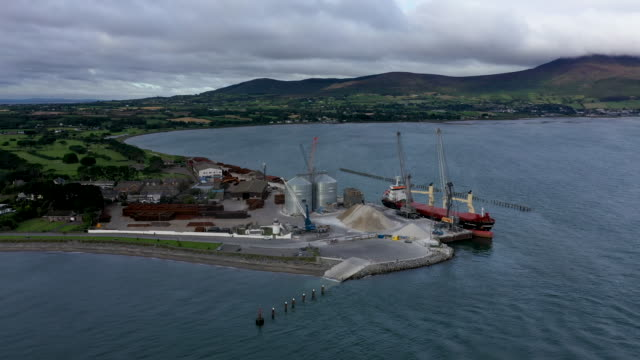 greemore port at the entry to carlingford lough a main entry point for shipping on the east coast of the island of ireland and the most easterly... - belfast stock videos & royalty-free footage