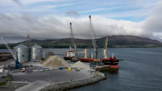 greemore port at the entry to carlingford lough a main entry point for shipping on the east coast of the island of ireland and the most easterly... - northern ireland stock videos & royalty-free footage