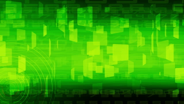green abstract business and technology for background,loopable