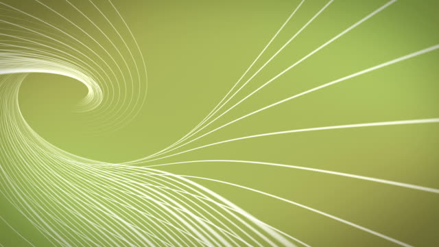 Green Abstract Shapes Wavy Backgrounds Loopable