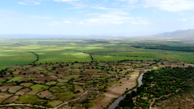 green agricultural fields in the rift valley of ethiopia, both rural and developed, africa - horn of africa stock videos & royalty-free footage