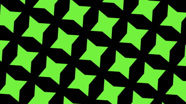 動きの緑と黒の幾何学的形状,万華鏡パターン - 投影図点の映像素材/bロール