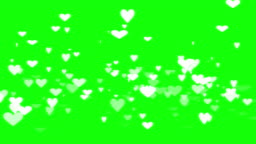 Green background with moving heart shape