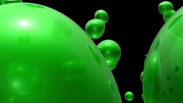 Green Balloons Falling (Loop)