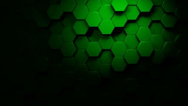 green beautiful hexagons on surface morphing in seamless 4k abstract motion design hintergrund 3d animation für die konzepte von technologie, kommunikation, übergängen, party-sozialen veranstaltungen, feierveranstaltungen, finanzen, daten, web und mobil - low poly modelling stock-videos und b-roll-filmmaterial
