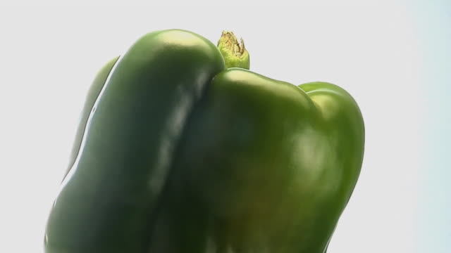 cu, green bell pepper rotating - bell pepper stock videos & royalty-free footage