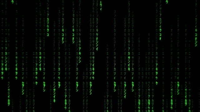 green binary code falling on black background - bit binary stock videos & royalty-free footage