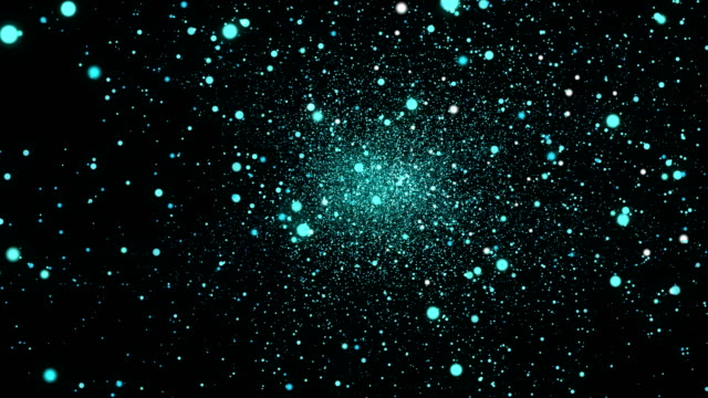Green blue particles background