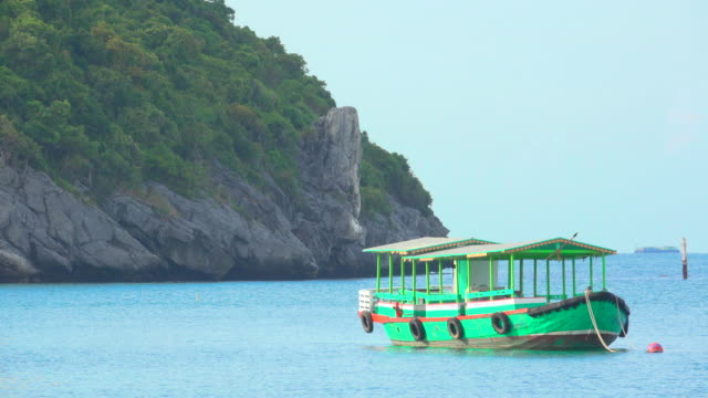 Green Boat In Sea