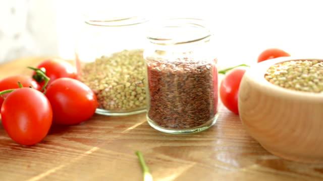 green buckwheat sandwiches - buckwheat stock videos & royalty-free footage