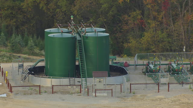 CU AERIAL Green building compressor station at Marcellus Shale Formation / Pennsylvania, United States