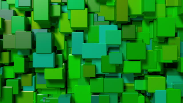 green cubes pulse and shift video background - square stock videos & royalty-free footage
