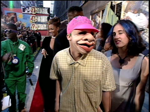 Green Day arriving to the 1994 MTV Video Music Awards wearing masks