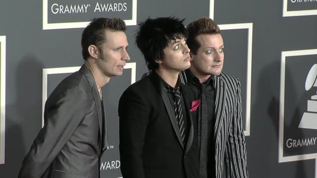 green day at the 52nd annual grammy awards arrivals at los angeles ca - grammy awards stock videos & royalty-free footage