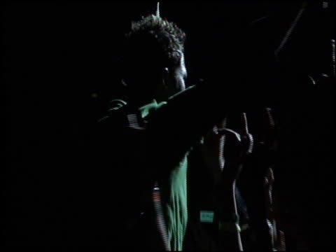 green day at the kroq almost acoustic christmas concert night 2 at the universal amphitheatre in universal city, california on december 12, 2004. - kroq stock videos & royalty-free footage