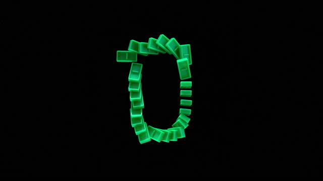 """slo mo ld green domino tiles shaped as """"0"""" falling on black surface - zero stock videos & royalty-free footage"""