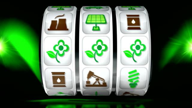 green energy fruit machine - dark background - gambling stock videos & royalty-free footage