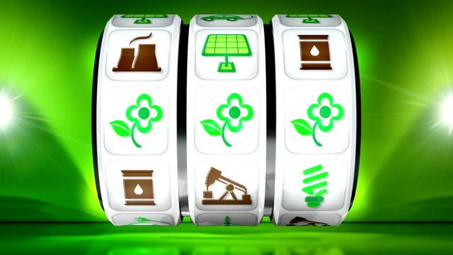 Green Energy Fruit Machine - Light Background