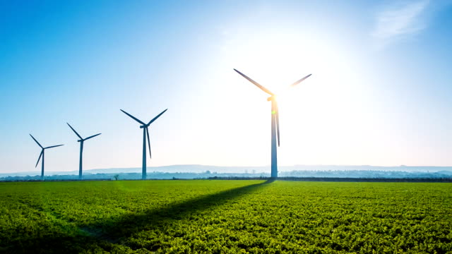 green energy - wind turbine stock videos and b-roll footage