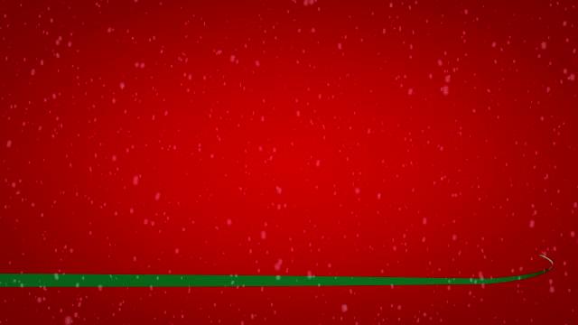 グリーン華やかなリボンで、赤色の背景 - 丸くなる点の映像素材/bロール