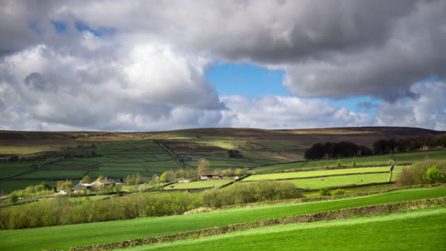 Green Fields and High Moors in West Yorkshire - Time Lapse