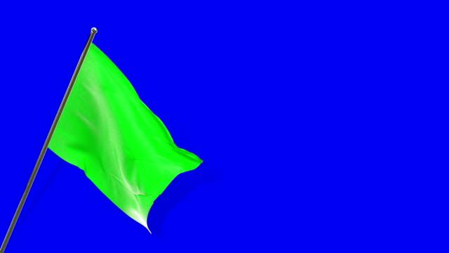 drapeau vert en hausse