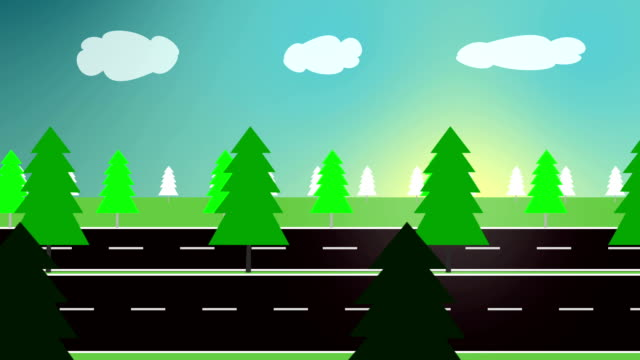 green forest (loopable) - cartoon stock videos & royalty-free footage